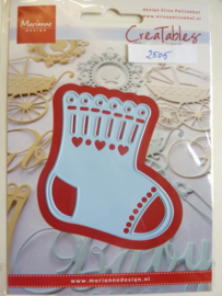 0002505- Marianne Design Creatables stencil nr.216 babysok 7x7cm OPRUIMING