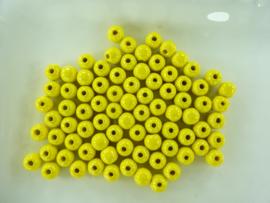 KN216018055- 80 stuks houten kralen geel 8mm