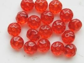 3729- 18 x tsjechische glaskralen bloemmodel 6x8mm discus