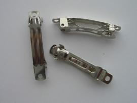 117287/0- haarclip 4cm staalkleur