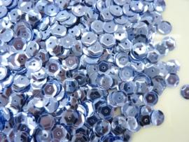 118372/532- 10 gram pailletten 6mm facon metaal staalblauw (grote hoeveelheid) SUPERLAGE PRIJS!