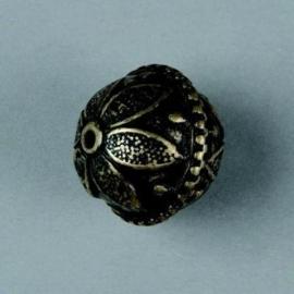 metalen kraal antiek goud 21mm 117465/2643