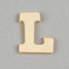 006887/1317- 2cm houten letter L