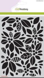 CE185070/1125- Craft Emotions mask stencil A5 achtergrond bloemen