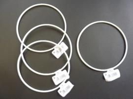 wit gelakte metalen dichte ring van 12cm doorsnee - 6770 126