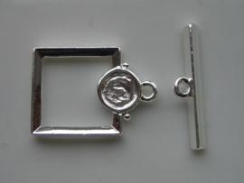 18mm kapittelslot vierkant verzilverd  -  117453/3011