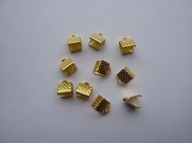 10 x lintklemmen van 6mm breed goudkleur - SUPERLAGE PRIJS!