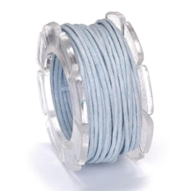 KN2290 451- 5 meter waxcord met nylonkern lichtblauw 1mm dik