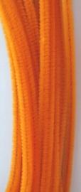 CE800700/7108- 20 stuks chenille draden van 30cm lang en 6mm dik oranje