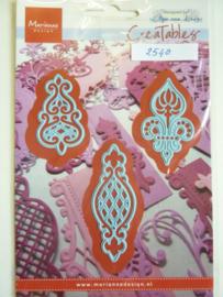 0002540- Marianne Design Creatables stencil nr.273 ornamenten (de grootste is 6.5cm lang) OPRUIMING