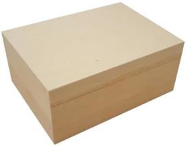 CE811720/0210- houten kist rechthoek met losse deksel 22.9x16.9x10cm (A5) pine