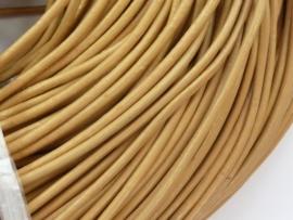 5 meter echt leren veter geverfd naturel van 2 mm. dik - AA kwaliteit - SUPERLAGE PRIJS!