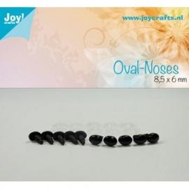 Joy6300/0631- 10 stuks ovale neuzen 8.5x6mm zwart