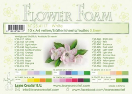 CE800205/4117- 10 sheets flower foam sheets A4 - wit