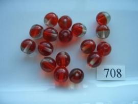glaskralen 10mm rond 708