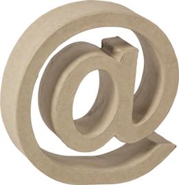 1929 3128 - stevige decoratie letter van papiermache - 3D @