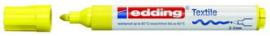 CE394500/0065- edding-4500 textielmarker 2-3mm punt neon geel