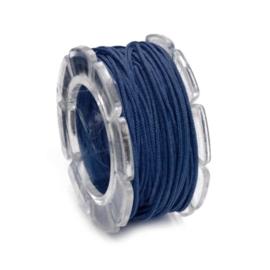 2290 654- 2 meter waxcord met nylonkern donkerblauw 2mm dik