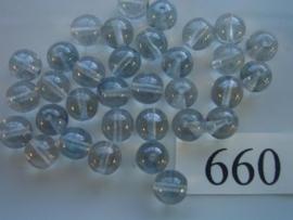 20 stuks 660 Ronde glaskraal 8mm licht grijs