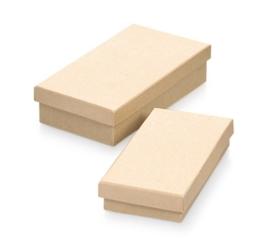 8735 773- 2 stuks ecoshape rechthoekige dozen set 16x9x4cm & 14.5x7.5x3cm