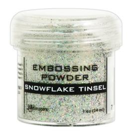 CE306320/7453- Ranger embossing powder 34ml - snowflake tinsel