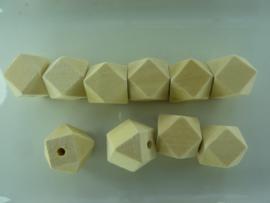 CH.02U- 10 stuks grote houten kralen met facetten 20x26mm