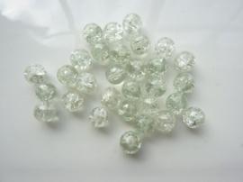 4058- 30 stuks qraccle glaskralen van 8mm transparant