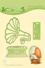 CE115645/3035- Le Crea Lea'bilitie snij- & embossingmal gramophone