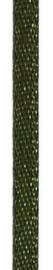 006302/0248- 4.5 meter satijnlint van 10mm breed op een rol olijf