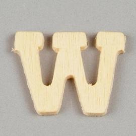006887/1422- 2cm houten letter W