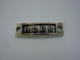 "CH.011.C- tussenplaatje voor armband ""hope"" 35x9mm"