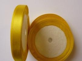 rol met 22.86 meter geel satijnlint van 10mm breed - SUPERLAGE PRIJS!