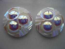 2 x glasstenen 25x9.5mm 5111-699