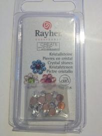 14018800- 20 stuks hotfix kristal strass steentjes AA+ 4mm crystal zilver