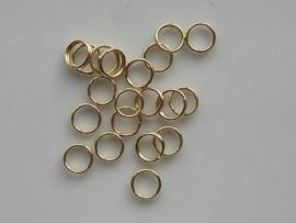 25 x dubbele ringetjes 5 mm goud