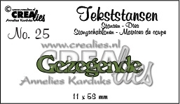 CE115634/3125- Crealies tekststans NO.25 gezegende 11x58mm