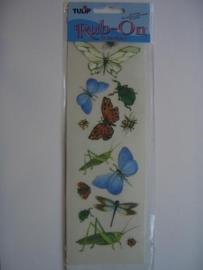 5401- Tulip Rub-ons vlinders