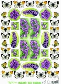 kn/1663-  A4 knipvel Marianne D images paarse bloemen -117141/8930