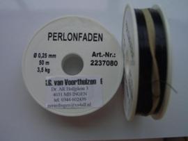 nylondraad 0,25mm zwart - 50 meter