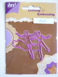 0002460- Joy Crafts stencil danspaar OPRUIMING