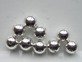 117465/0706- gladde ronde licht metalen kraal 12mm
