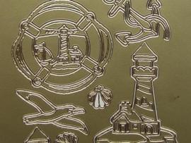 st286- divers maritiem goud 10x20cm