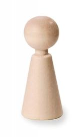 3000 837- 30 x houten kegelpopjes 3.7cm