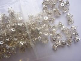 6mm kralenkapjes filigrain 200 stuks zilverkleur - SUPERLAGE PRIJS!- CH.113.200