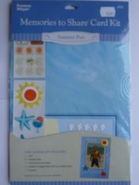 5682- Francis Meyer summerfun kaartenmaak kit met diverse accessoires OPRUIMING