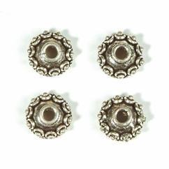 12mm kralenkap zwaar metaal 1 stuk  -  117465/0302