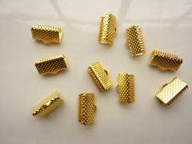 10 x lintklemmen van 12mm breed goudkleur - SUPERLAGE PRIJS!