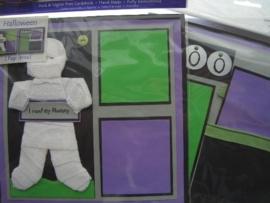 5492- Just Finger embellishments page kit halloween 2 pagina`s van 20x20cm