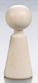 8497 370- 25 stuks houten kegelpopjes van 3.7cm