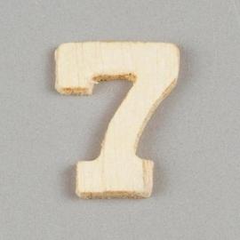 2227 1570- 2cm houten cijfer 7